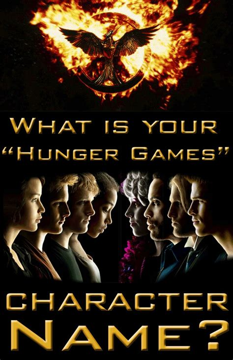character names in hunger what is your quot hunger games quot character name i am hunger games characters and angels