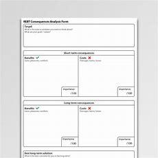 Rebt Consequences Analysis Form Worksheet Pdf  Psychology Tools