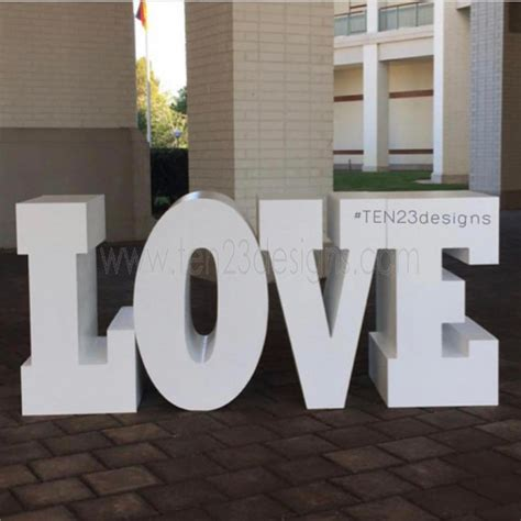large love  baby table letters