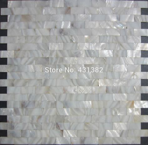 Of Pearl Mini Subway Tile by Aliexpress Buy Home Mosaics Tiles White Subway Brick