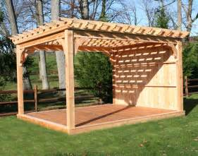 10 X 20 Modern Shed Plans by Red Cedar Belvedere Free Standing Pergolas Pergolas By