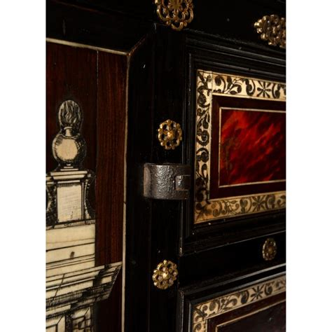 italian early  century baroque period specimen cabinet
