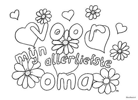 Kleurplaat Hoera Opa Oma by Kleurplaten Opa En Oma Jarig