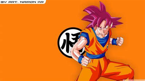 goku super saiyajin god  hd desktop wallpaper