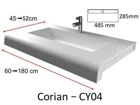 Vanités Définition by Plan Vasque Solid Surface R 233 Sine Min 233 Rale Type Corian