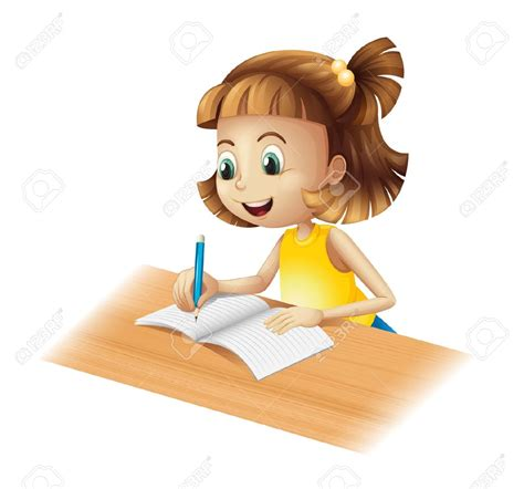 girl writing clipart png  cliparts