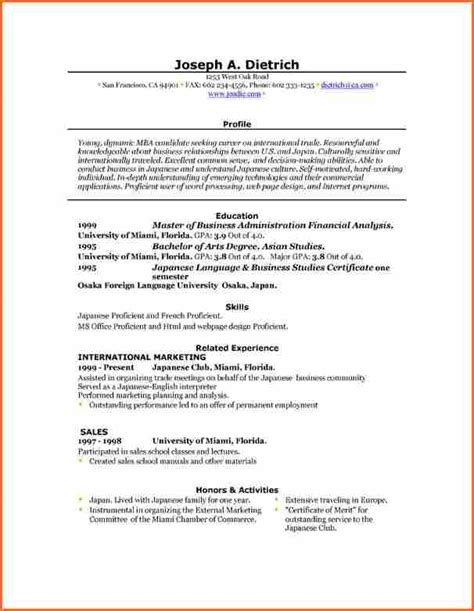 Microsoft Word Template Resume by 6 Free Resume Templates Microsoft Word 2007 Budget
