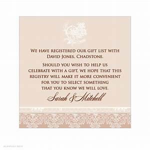 registry information on wedding invitations invitation With wedding invitation etiquette gift registry