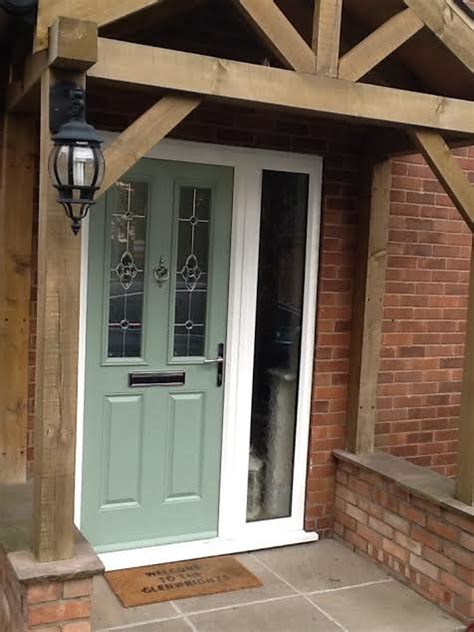 composite front doors  side panels