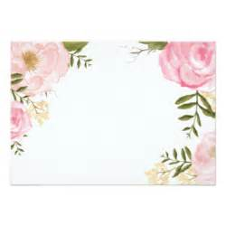 wedding invitation stationery blank floral invitations announcements zazzle