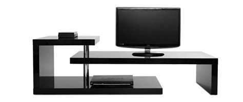 meuble tv design laqu 233 noir turn miliboo