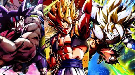 dragon ball legends los  personajes mas usados en