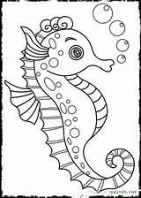 Seahorse Coloring Pages Baby Seahorses Print Drawing Cartoon Cute Realistic Printable Getdrawings Drawings Getcolorings sketch template
