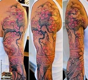 Tatouage Arbre Japonais : tatouage fleurs de cerisier tatoo tatouage fleur de ~ Melissatoandfro.com Idées de Décoration