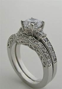 Creative round diamond engagement bridal ring setting set for Diamond wedding ring settings