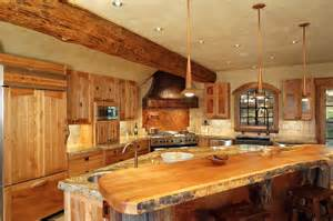 hybrid log house traditional kitchen vancouver by