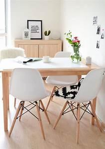 la salle a manger scandinave en 67 photos archzinefr With meuble de salle a manger avec tableau deco style scandinave
