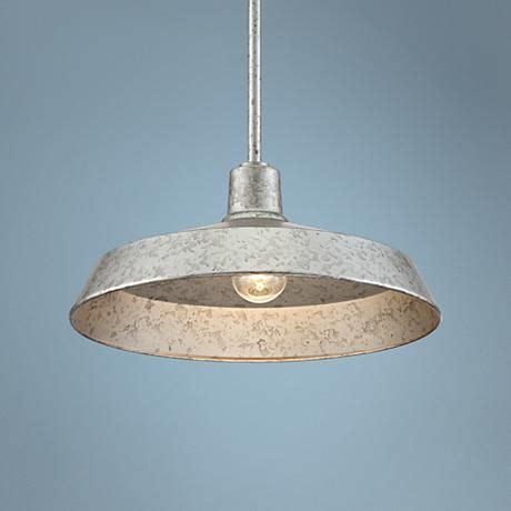 "Galvanized Metal 15"" Wide Industrial Pendant Light"