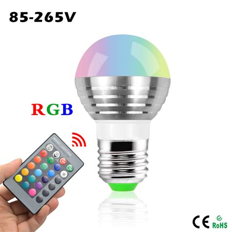 mini rgb led spotlight bulb 5w ac 110v 220v 16 colorful