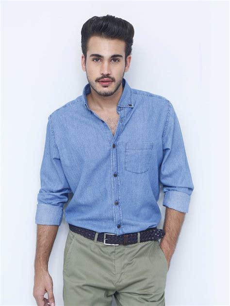 classic blue denim shirt brumano