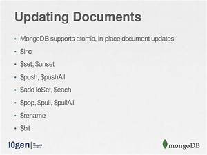 webinar building your first application with mongodb With update documents mongodb