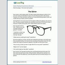 Free Printable Third Grade Reading Comprehension Worksheets  K5 Learning