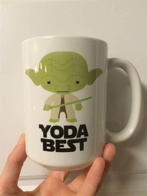 • microwave and dishwasher safe • design is permanently. Star Wars Yoda Best Coffee Mug Customize it by embeemugs on Etsy