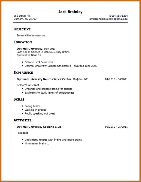 How To Make A Resume For Undergraduate Students by 9 How To Make A Student Resume Lease Template
