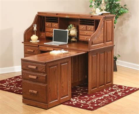 computer roll top desk  pull  return