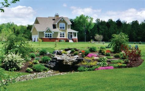 country landscaping ideas country homes log homes landscaping house plans and more