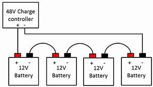 how to connect your batteries to make up a 24v or 48v With battery bank wiring