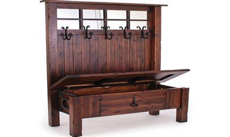 entry storage bench hall tree bench  storage plans