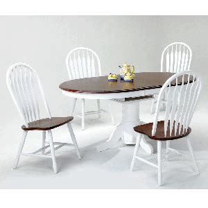 chair fair dinette gallery braintree ma white and chestnut 5 dining room table with 4 side