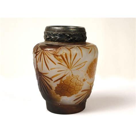 vase pate de verre vase en p 226 te de verre sign 233 emile gall 233 224 d 233 cor de feuilles et pommes de ebay