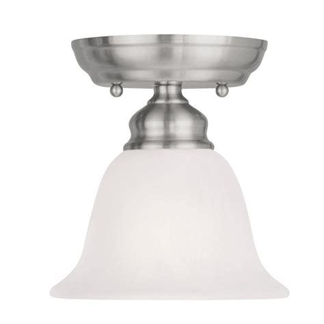 livex lighting tashia 1 light brushed nickel ceiling semi