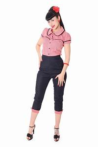 50er Jahre Look : netty 50er retro pin up denim gingham caprihose 3 4 hose v sugarshock frauen hosen ~ Sanjose-hotels-ca.com Haus und Dekorationen