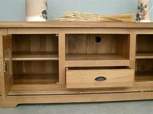 Meuble Tv Rustique : meuble tele bois massif maison design ~ Nature-et-papiers.com Idées de Décoration