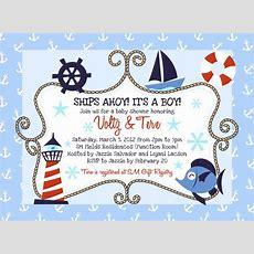Sailboat Nautical Themed Baby Shower Ideas Free