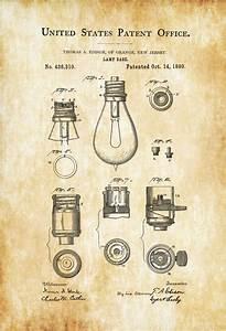 Lamp Base Patent Print - Decor, Kitchen Decor, Restaurant
