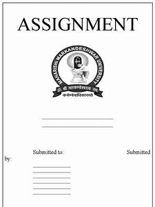 assignment cover page design doc