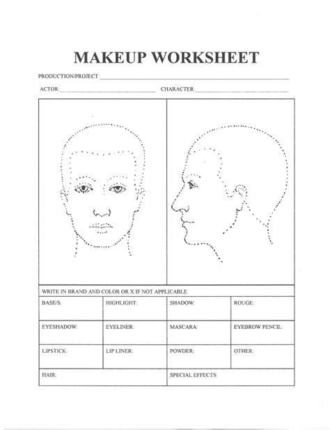 Theatrical Makeup Design Template by 301 Moved Permanently