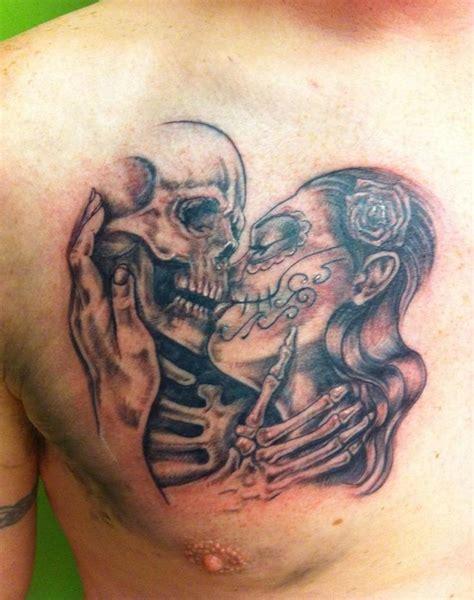 33 Best Sugar Skull Kissing Tattoos Images On Pinterest