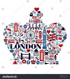 great britain united kingdom culture stock vector 256916239