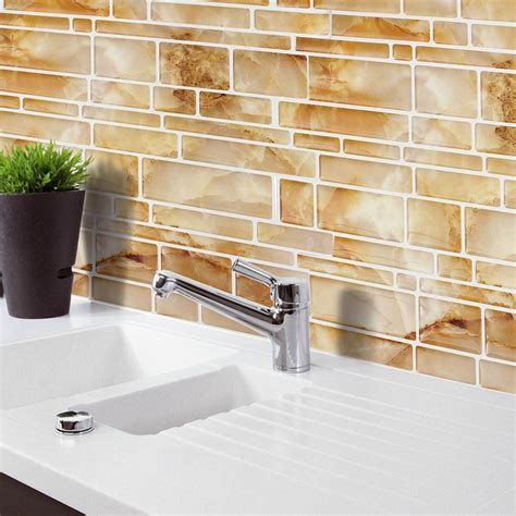 papier peint imitation carrelage cuisine aliexpress com acheter jaune imitation marbre décor à la