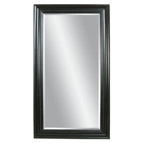 floor mirror lowes shop bassett mirror company kingston ebony beveled floor mirror at lowes com