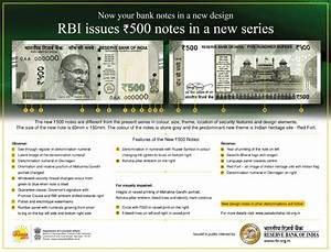 RBI issues Rs.500 notes in a new series — CENTRAL ...
