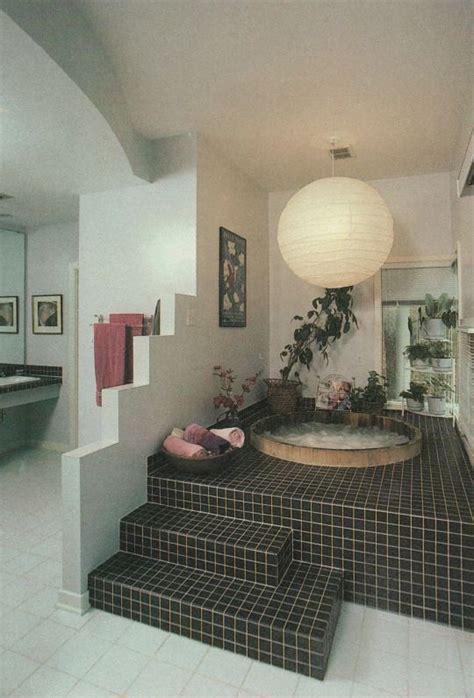 aesthetic black tile bath bathroom jacuzzi hot tub clean
