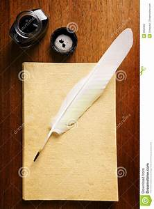Old Blank Paper And Quill Pen Stock Photography - Image ...