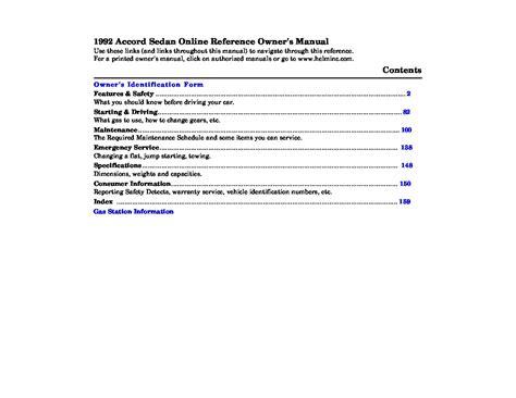 honda accord repair manual owners manual owners