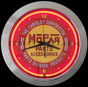 Mopar Red Vintage Neon Clock RetroOutlet